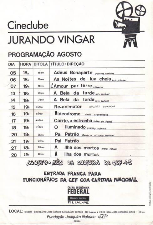 Cartazes Cineclube Jurando Vingar